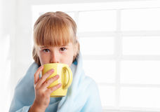 Child is ill at home Stock Image