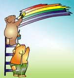 Child illustration - 2. A child illustration of teddy bears Royalty Free Stock Images