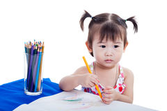 Child imagine to draw picture Royalty Free Stock Images