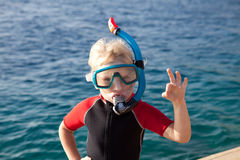 Child In A Diving Mask Royalty Free Stock Photo