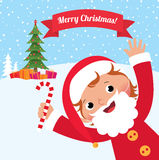 Child In Costume Santa Claus Royalty Free Stock Photos