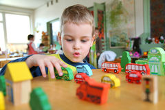 Child In Kindergarten Royalty Free Stock Images