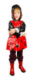 Child In Rain Coat. Stock Photo