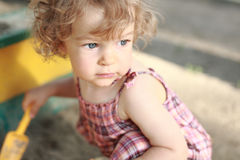Child In Sandpit Royalty Free Stock Photos