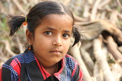 Child. Indian Rural Girl Looking at Camera Royalty Free Stock Photos