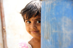 Child. Indian rural child with smile face Stock Photos
