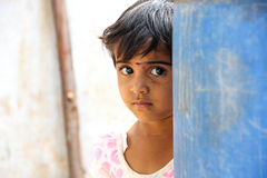 Child. Indian rural child staring at camera Stock Photography
