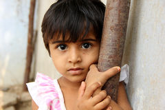 Child. Indian rural child staring at camera royalty free stock images