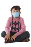 Child infected with influenza A Stock Image