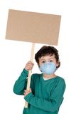 Child infected with influenza A Stock Photography
