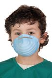Child infected with influenza A Stock Photos
