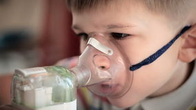 Child with inhaler 5 stock footage