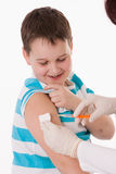 Child with injection Royalty Free Stock Image