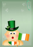 Child with Ireland flag Stock Image
