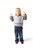 Child isolated funny Royalty Free Stock Photography