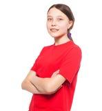 Child isolated on white Stock Photo