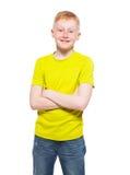 Child isolated on white Stock Image