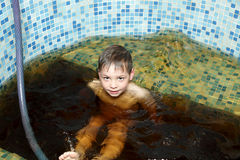 Child in jacuzzi Stock Photos