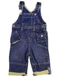 Child jeans male trousers jumpsuit isolated. Stock Image