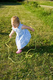 Child jump rope. Stock Photos