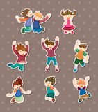 Child jump stickers Royalty Free Stock Photography