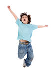 Child  jumping. Adorable child  jumping a over white background Stock Photography