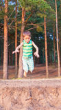 Child jumps down Stock Photos