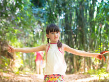 Child in the jungle royalty free stock photography