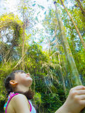 Child in the jungle Royalty Free Stock Image