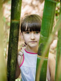 Child in the jungle Royalty Free Stock Photo