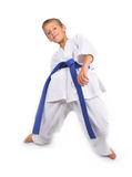 Child in karate Stock Photography