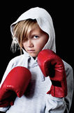 Child keeping fit. A young girl is keeping fit Royalty Free Stock Photography