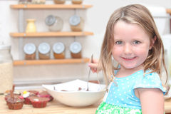 Child or kid cooking Stock Images