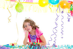 Child kid crown princess in birthday party Stock Photography