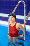 Child kid girl swimmer in the pool Royalty Free Stock Images