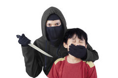 Child kidnapping by threatening 1 Stock Photo