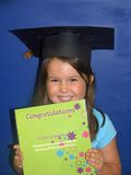 Child at kindergarten graduation Royalty Free Stock Photos
