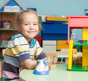 Child in kindergarten Stock Photo