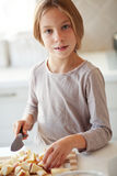 Child in kitchen Stock Photo