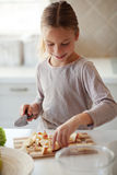 Child in kitchen Stock Photography