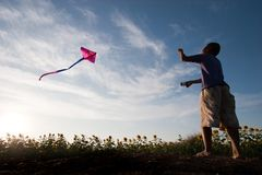 Child kite Royalty Free Stock Photo