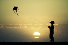 Child and kite Royalty Free Stock Image