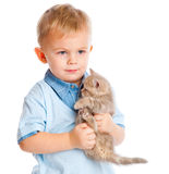 Child with kitten Royalty Free Stock Image