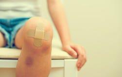 Child knee. royalty free stock photos