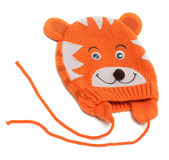 Child knitted hat with pattern Royalty Free Stock Photography