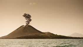 The child of Krakatoa Stock Image