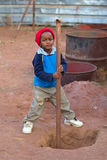 Child labor. African kid, child labor, social issues, poverty Stock Photo