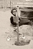 Child labor. African kid, child labor, social issues, poverty Stock Images