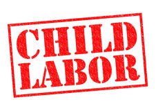 CHILD LABOR. Red Rubber Stamp over a white background Stock Photos