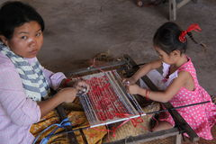 Child labour in Cambodia Royalty Free Stock Image